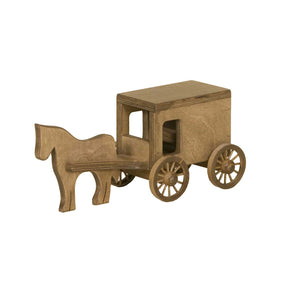 Lapp's Toys wooden horse and buggy.