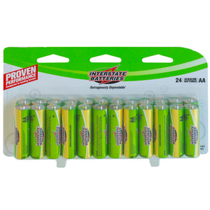 Interstate Batteries, Pack of 24 AA.