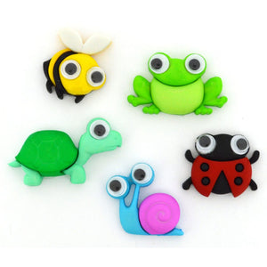 Goggly eyed animal buttons