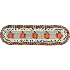 Braided Pumpkin table runner