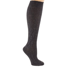 Charcoal gray Lizzie Ann acrylic socks.