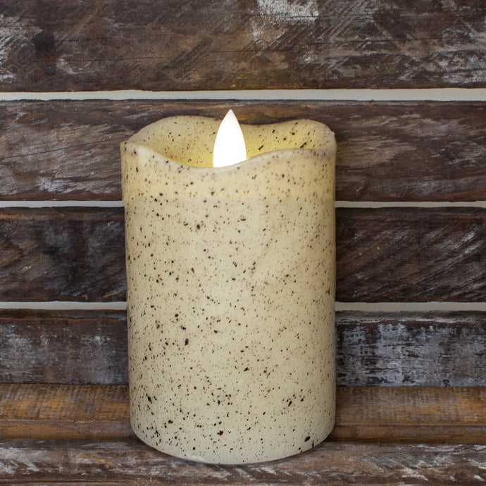 4-inch rustic pillar candle