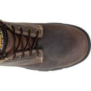 Top view- Carolina lace-up work boots with composite toe.