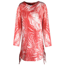 Women's Palm Frond Top with Side Ties 437X