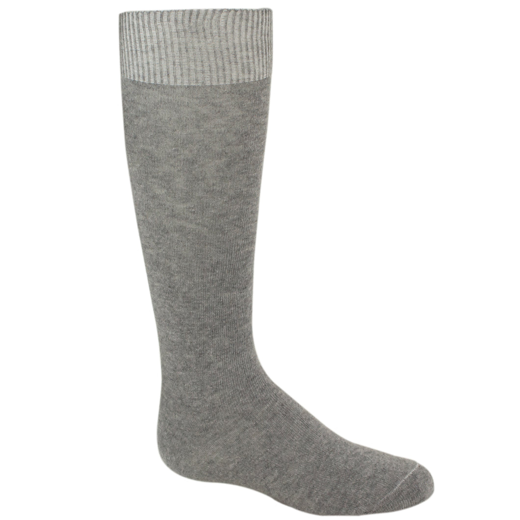 Gray girls knee high sock.
