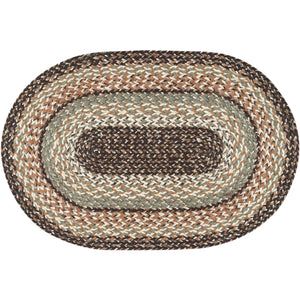 Capitol Earth Rugs Braided Oval Rug Sandstone colors