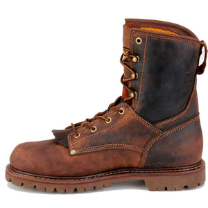 Carolina Shoes lace-up work boots.