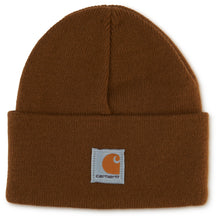 Brown Carhartt child's watch hat.