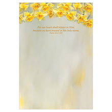 Inside of daffodil card.