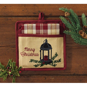 Christmas towel and potholder