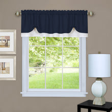Navy & white pickup valance.
