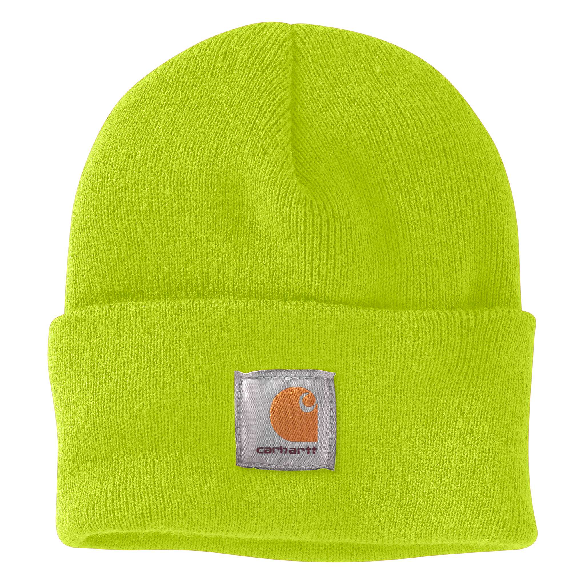 95e8115c69c ... Brite Lime Carhartt beanie with Carhartt label stitched on front ·  Brite Orange ...