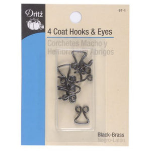 Coat hooks & eyes