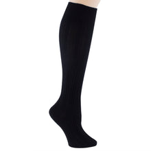 Black knee-high socks.