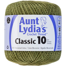 Olive Green Aunt Lydia's Crochet thread.