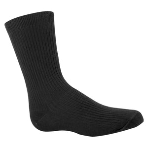 Charcoal Boys black dress socks.