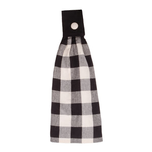 Raghu Black Buffalo Checked Tab Tea Towel TT510011