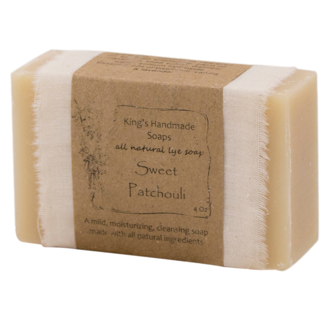 Sweet patchouli bar soap.