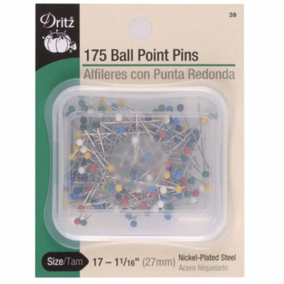 Dritz Colored Plastic Ball Head Pins S-39