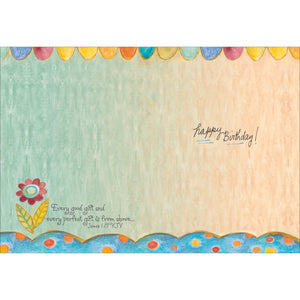 Inside of flower card.