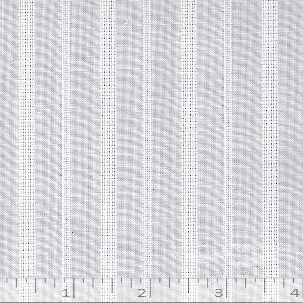 Lined white shirt fabric.