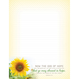 Abound in Hope Sunflower Writing Paper 63102