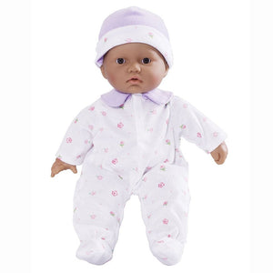 JC Toys La Baby Hispanic Play Doll with Purple Blanket 13110