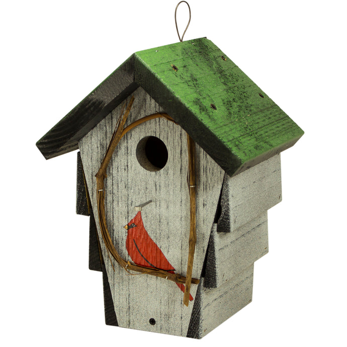 Corncrib Birdhouse with Green Roof CCH