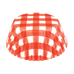 Red Gingham Bake Cup Set 6919
