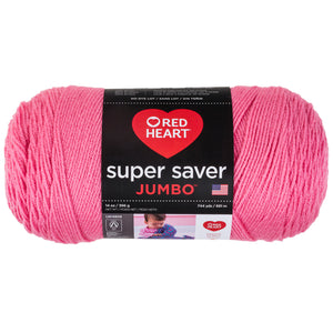Perfect Pink Super Saver 14 oz Jumbo yarn.