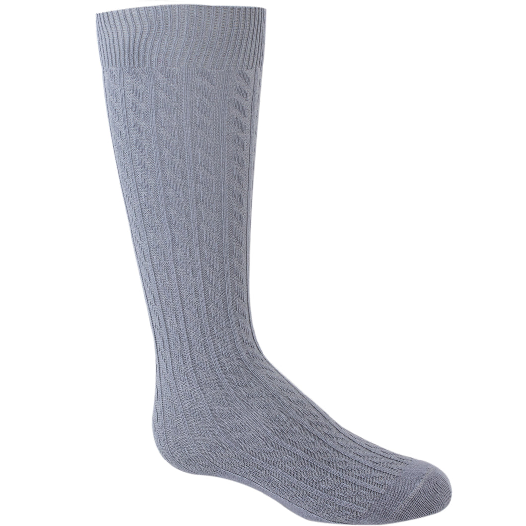 Girl's Knee High socks medium gray