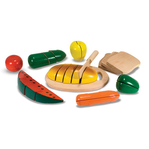 Wooden toy food set