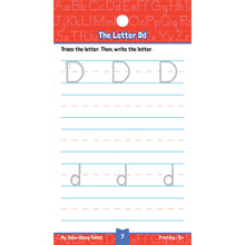 Carson Dellosa My take-along tablet Printing activity book letter D sample page