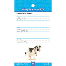 Carson Dellosa My take-along tablet Printing activity book writing words sample page