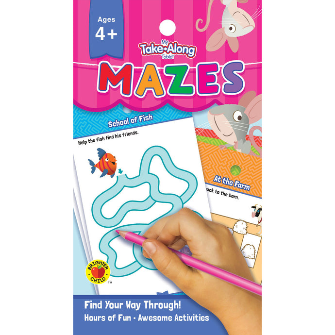Carson Dellosa My Take-Along Tablet Mazes activity book cover