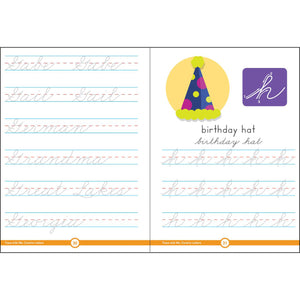 Carson Dellosa Cursive Letters activity book sample page