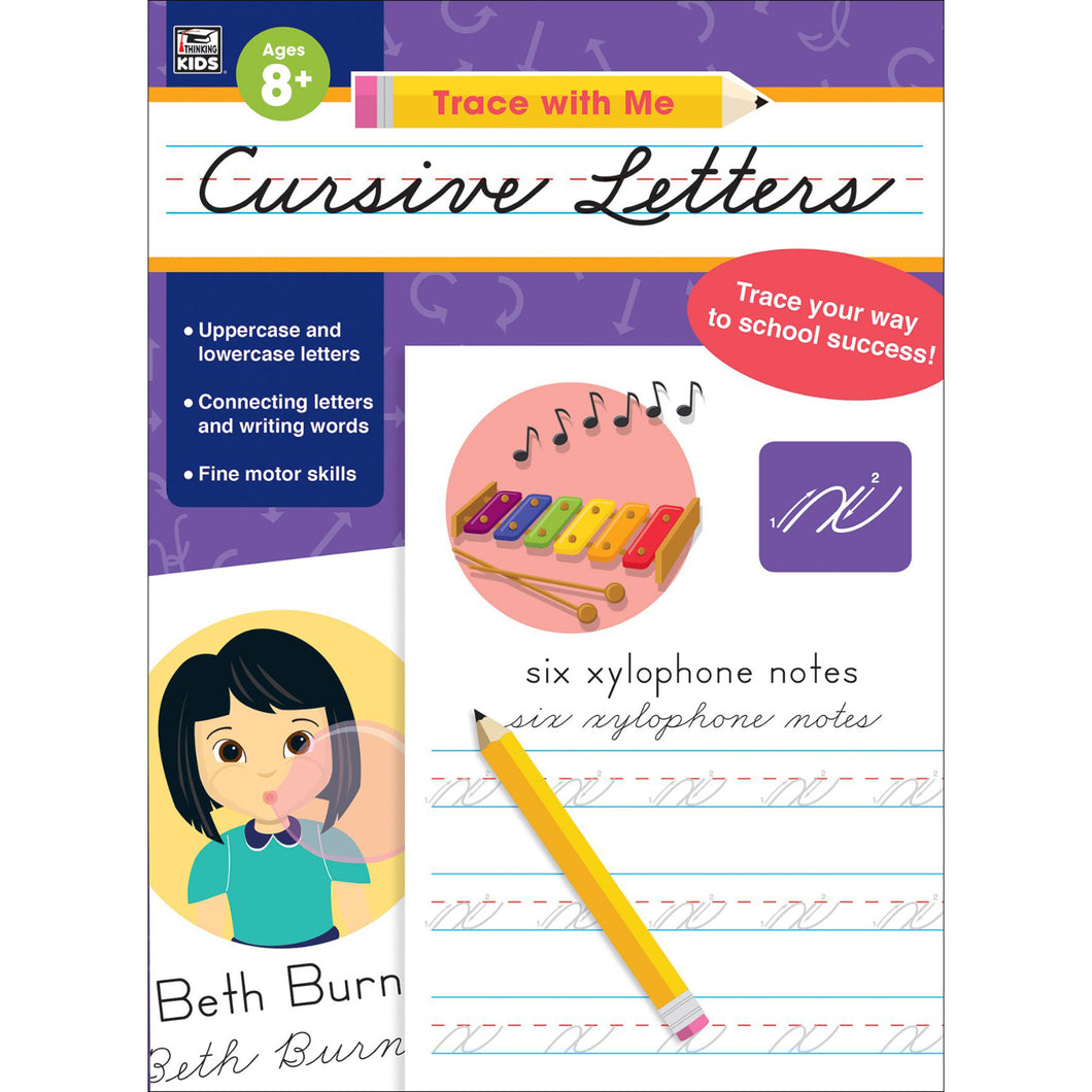 Carson Dellosa Cursive Letters activity book cover