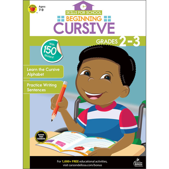 Carson Dellosa Beginning Cursive activity book cover