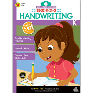Carson Dellosa Beginning Handwriting activity book cover