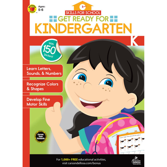 Carson Dellosa Get Ready for Kindergarten activity book cover