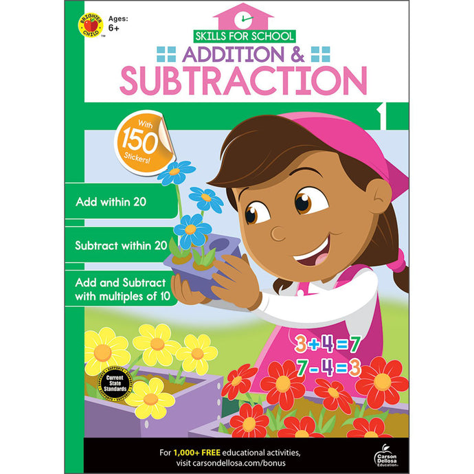 Carson Dellosa Addition & Subtraction activity book front cover