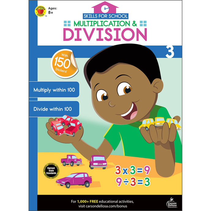 Carson Dellosa Multiplication & Division activity book front cover