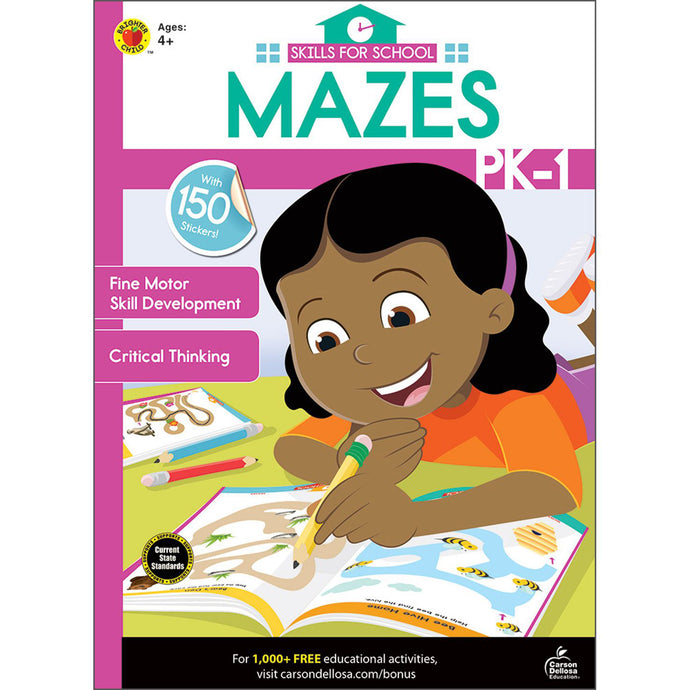 Carson Dellosa Mazes activity book front cover