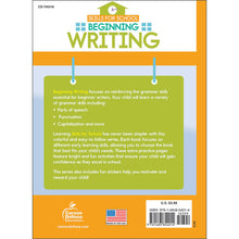 Carson Dellosa Beginning Writing activity book back cover