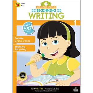 Carson Dellosa Beginning Writing activity book front cover