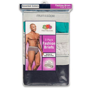 Men's Fruit of the Loom 3-pack colored briefs.