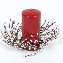 White Rice Berry Candle Ring.