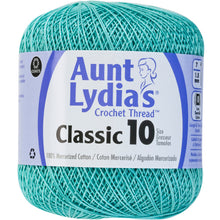 Aqua Aunt Lydia's crochet thread