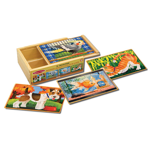 4 wooden jigsaw puzzles