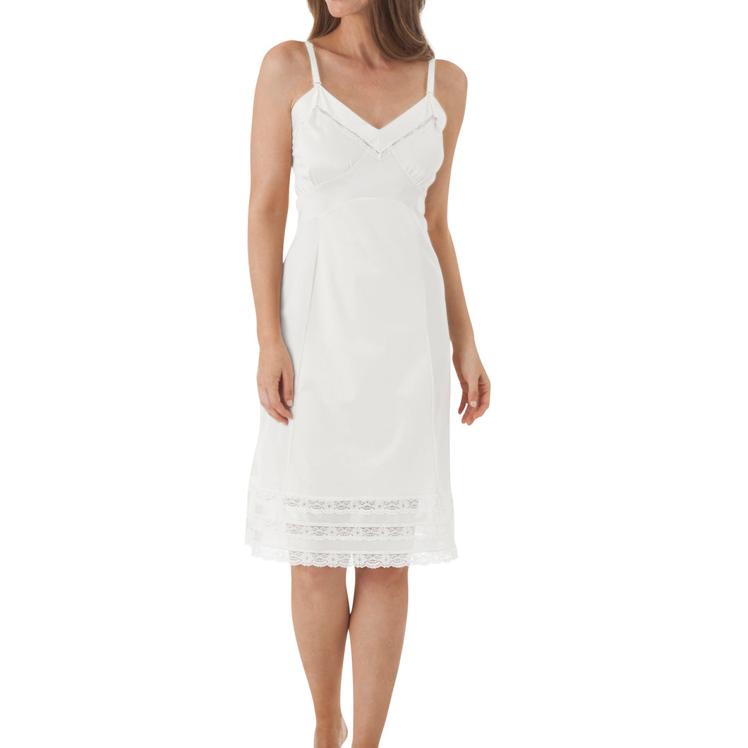 Women's whole slip with lace around the bottom.